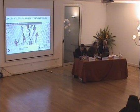 Inauguración do seminario. Grabación lado presentación - Seminario luso-galaico de dereito local. Dereito do Urbanismo